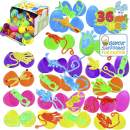JOYIN 36 PCs Prefilled Easter Eggs with Stretchy Sticky Toy Assorted Set for Kids Basket Stuffers, Easter Decorations, Easter Egg Hunt Game, Easter Décor Gifts and Party Decorations