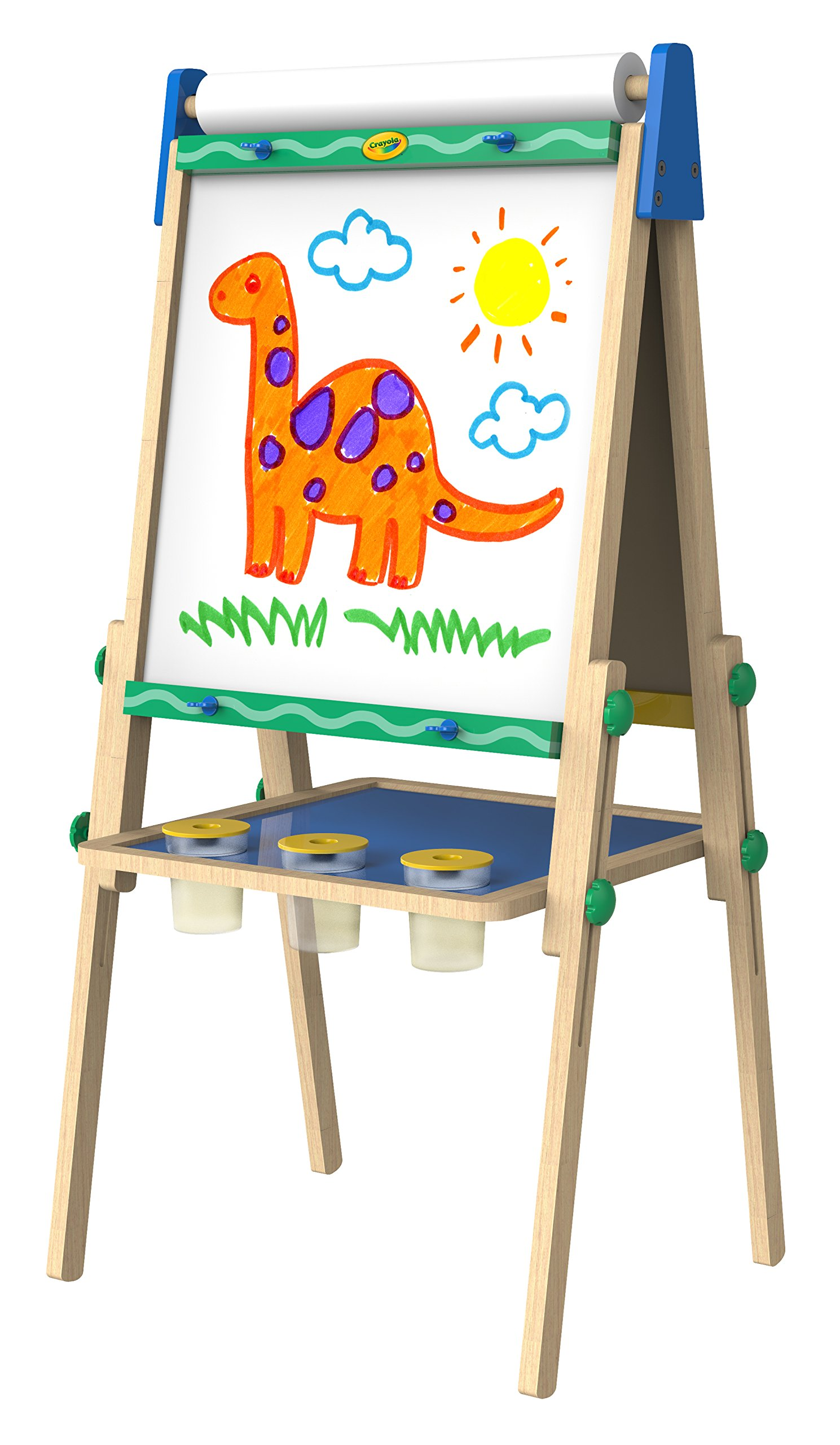 Crayola Kids Wooden Easel, Dry Erase Board & Chalkboard, Amazon Exclusive, Kids Toys, Gift, Age 4, 5, 6, 7