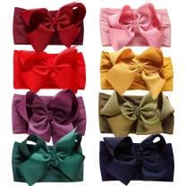 Baby Nylon Headbands Hairbands Hair Bow Elastics for Baby Girls Newborn Infant Toddlers Kids (Set 8-8PCS)
