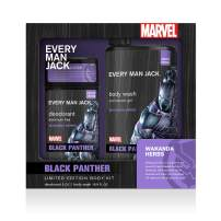 Every Man Jack Body Kit - Marvel Black Panther | 16.9-ounce Body Wash + 3-ounce Deodorant | Naturally Derived, Parabens-free, Pthalate-free, Dye-free, and Certified Cruelty Free