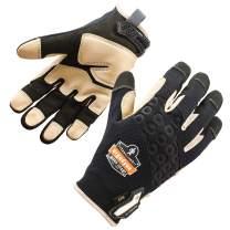 Ergodyne ProFlex 710LTR Heavy-Duty Leather Reinforced Work Gloves, Medium Black
