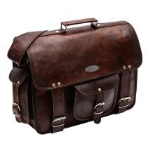 "Handmade World Leather Messenger Bags For Men Women 15"" Mens Briefcase Laptop Bag Computer Satchel (11"" X 15"")"