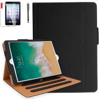 iPad Air 3 Case, iPad Pro 10.5 Case with Pencil Holder, Bonus Screen Protector and Stylus - Multi-Angle Stand, Hand Strap, Auto Sleep/Wake for iPad Air 3rd Generation, iPad Pro 10.5(Black)