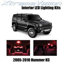 Xtremevision Interior LED for Hummer H3 2005-2010 (15 Pieces) Red Interior LED Kit + Installation Tool