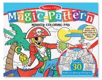 Melissa & Doug Magic-Pattern Marker Kids' Coloring Pad - Pirates, Sports, Castles, and More