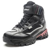 QOMOLANGMA Men's Waterproof Leather Motorcycle Combat Ankle Boots Hiking Trekking Outdoor Boots