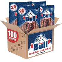 ValueBull USA Twisted Lamb Weasand Dog Chews, 100 Count
