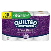 Quilted Northern Ultra Plush Toilet Paper, 48 Double Rolls, 48 = 96 Regular Rolls, 4 Pack of 12 Rolls, 3 Ply Bath Tissue