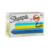 Sharpie 25010 Accent Tank-Style Highlighter, Fluorescent Blue, 12-Pack
