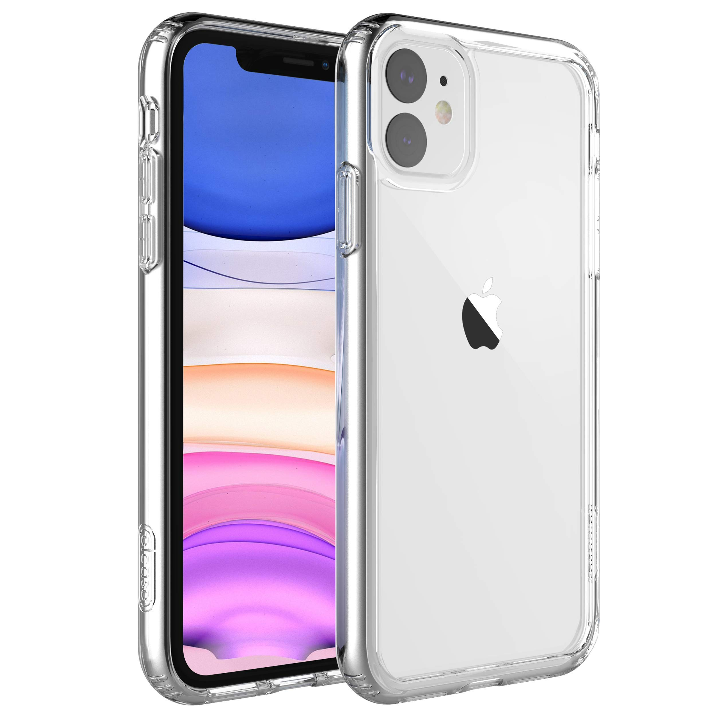 elcase Air Bolster iPhone 11 Clear Case - Protective iPhone 11 Case Shockproof Drop Protection, TPU Bumper, Scratch-Resistant Hard PC Back - iPhone 11 Cover Case 6.1 inch Compatible (Crystal Clear)