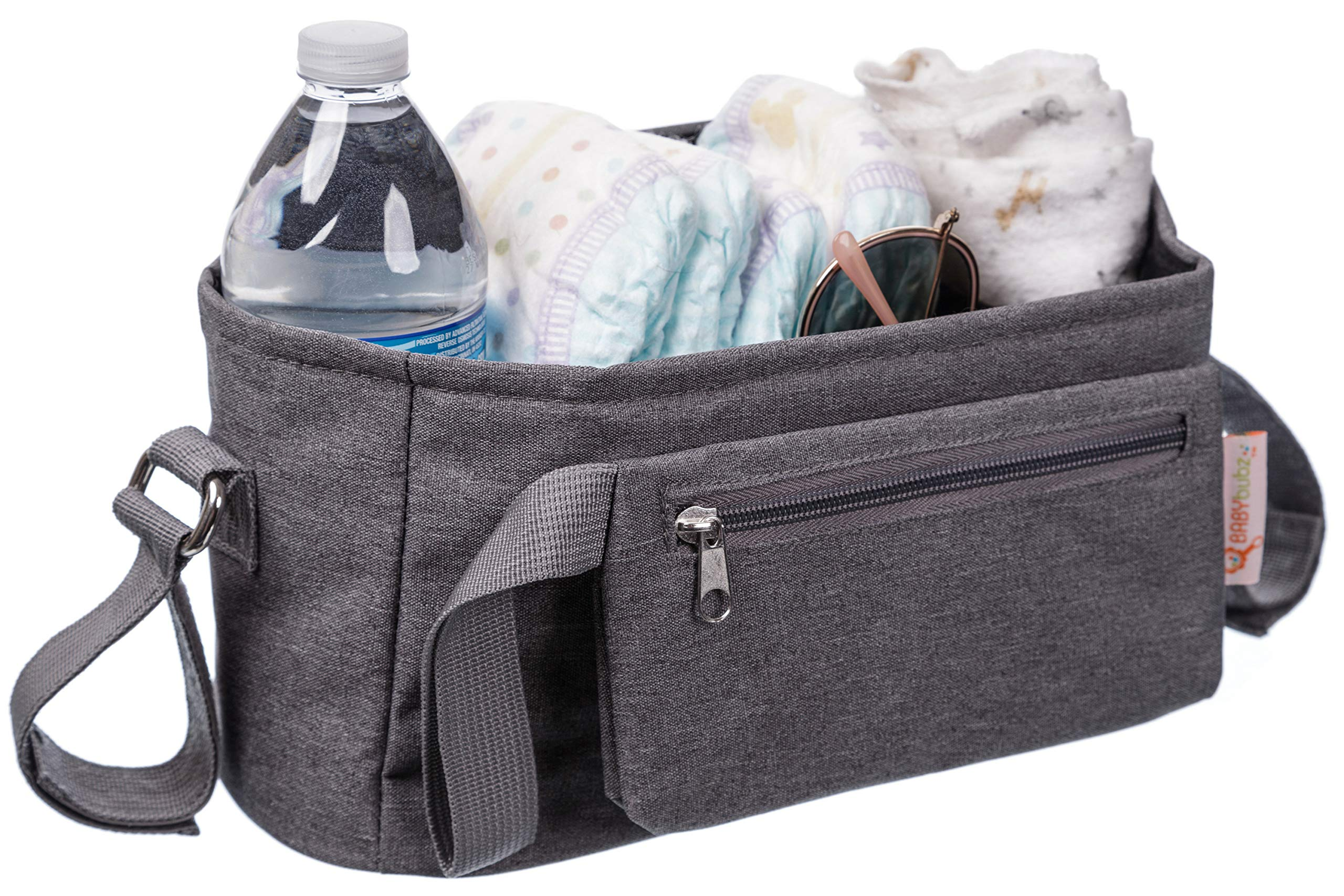 Baby Stroller Organizer Bag for Busy Mom's - Lots of Storage, Durable Cup Holders - Fits All Strollers - Carry Your Phones, Keys, Diapers, Baby Toys, Snacks and Stroller Accessories
