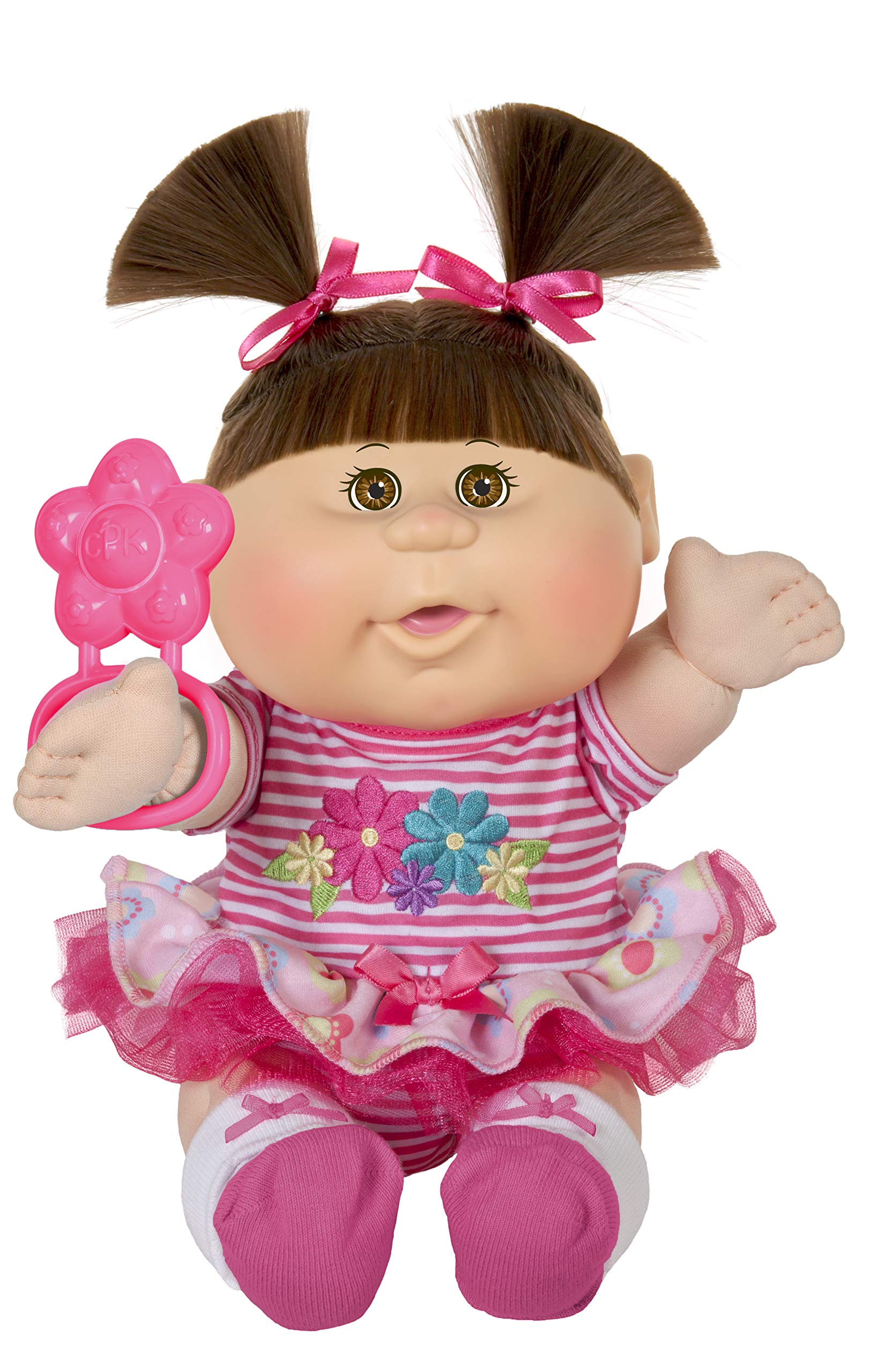 "Cabbage Patch Kids 12.5"" Playtime Brunette Baby Ruffle Skirt, Multi, Model:30332b"