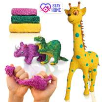 VOYAgers group Big Sale - Craft Kits for Kids & Adults - Play Foam - Modelling Art kit - Super Soft Dough - Modelling Clay - 3 in 1 Giraffe + Dinosaur + Rhino