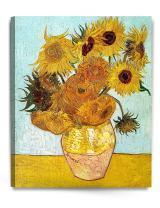 DECORARTS - Twelve Sunflowers, Vincent Van Gogh Art Reproduction. Giclee Canvas Prints Wall Art for Home Decor 30x24