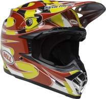 Bell Moto-9 MIPS Off-Road Motorcycle Helmet (MC Replica Gloss Red/Yellow/Chrome, X-Large)