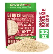 Sincerely Nuts Hulled Organic Sesame Seeds (2 lb Bag)- Nature's Super Seed | Rich Flavor Profile Perfect for Cooking | Raw, Gluten Free, Vegan & Kosher | All Natural Plant Based Protein & Healthy Fats