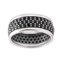 Silpada 'Jet Setter' Ring with Black Spinel in Sterling Silver