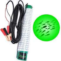 Green Blob Outdoors Underwater Fishing Lights, 12 Volt Battery Powered LED for Boats15000/7500 Lumen Snook, Crappie, Ice