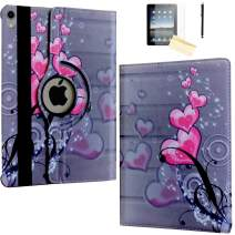 JYtrend Case for iPad Pro 11 Inch 2018, [Support Pencil Charging] Rotating Stand Smart Case Magnetic Auto Wake Up/Sleep Cover for iPad Pro 11 Model A2013 A1980 A1979 A1934 (Heart Flower)