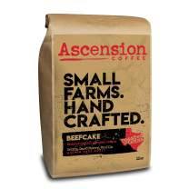 Ascension Beefcake Blend, Medium Dark Roast, Central America Origin, Fresh Roasted Whole Bean Coffee, 12 oz Bag