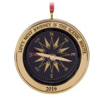 Hallmark Keepsake Christmas Ornament 2019 Year Dated Graduation Gift Life's Next Journey Compass Direction Metal