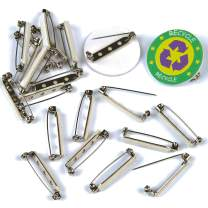 Baker Ross Self-Adhesive Badge Pins Brooch Backs - Jewelry Making Kids Craft Supplies (Pack of 20)