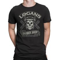 Wolverine X-Men Inspired -Logan Logan's Barbershop Mens T-Shirt- Black