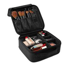 Awekris Makeup Case, Professional Travel Cosmetic Bag, Portable Storage Bag with Adjustable Dividers for Cosmetics Make Up Brushes Tools Toiletry Jewelry