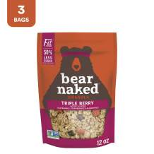 Bear Naked Triple Berry Fit Granola - Less Sugar, Non-GMO Project Verified, Kosher and Vegan - 12oz Bag (3 Pack)