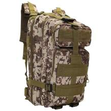 TUDOES Outdoor Camouflage Pack Army Fan Equipment Camping Backpack (Jungle Digital)