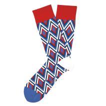 Two Left Feet Unisex-Adult's Novelty USA Crew Sock