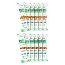 Tosi Organic SuperBites Vegan Snacks, Best Sellers Combo 6 Almond and 6 Cashew, Gluten Free, Omega 3s, Fiber, 1 oz
