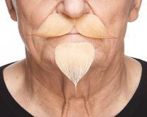 Realistic Napoleon III Imperial Fake Mustache and Goatee Beard Self Adhesive Costume Facial Hair