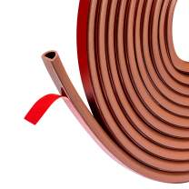 fowong Silicone Door Seal, 11/32 Inch Wide X 5/16 Inch Thick Silicone Rubber Weather Stripping for Doors and Windows Draft Guard (Brown)