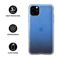tech21 Pure Shimmer Mobile Phone Case - Compatible with iPhone 11 Pro Max - Ultra Thin, Shimmer Effect with Anti-Microbial Properties and Drop Protection, Blue