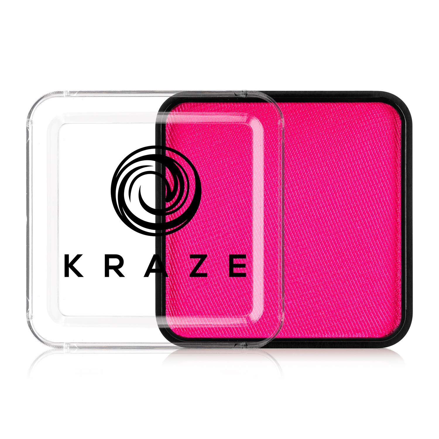Kraze FX Square - Neon Pink (25 gm) - Water Activated, Professional UV Glow Blacklight Reactive Face Painting Colors, Hypoallergenic, Safe, Washable Fluorescent Face & Body Paint