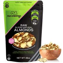 Natural Sliced Almonds - Raw, Superior to Organic (48oz - 3 Pound) Packed Fresh in Resealble Bag - Nut Trail Mix Snack - Healthy Protien Food, All Natural, Keto Friendly, Vegan, Gluten Free, Kosher