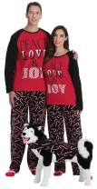 #followme Matching Christmas Pajamas for Couples, Dog and Owner