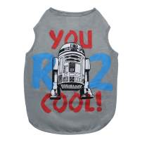 Star Wars You R2 Cool Gray Dog Tank