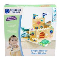 Educational Insights Bright Basics Bath Blocks, Set of 24, Bath Toy for Toddlers, Ages 3+