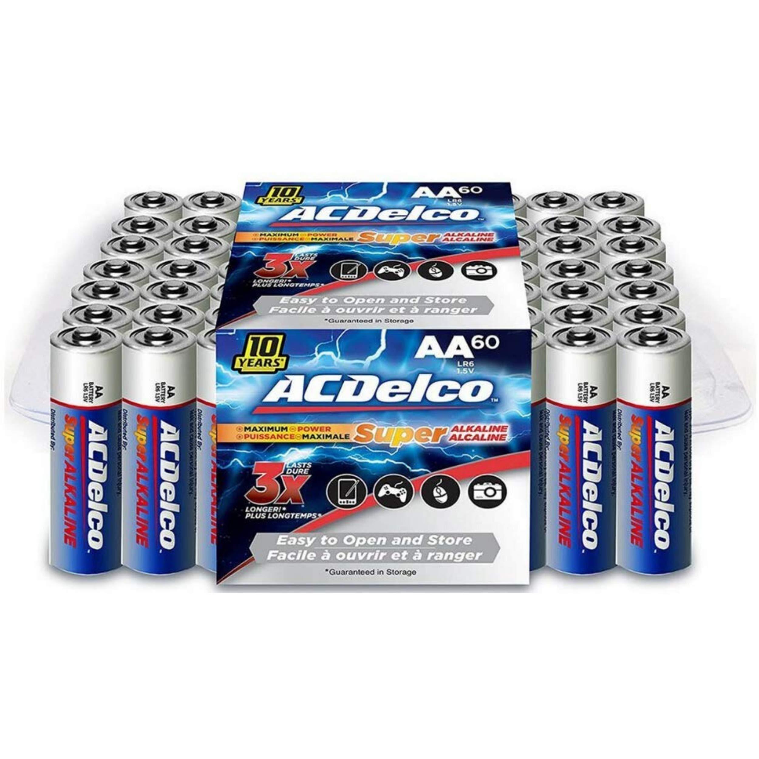 ACDelco AA Batteries, Alkaline Battery, 60 Count