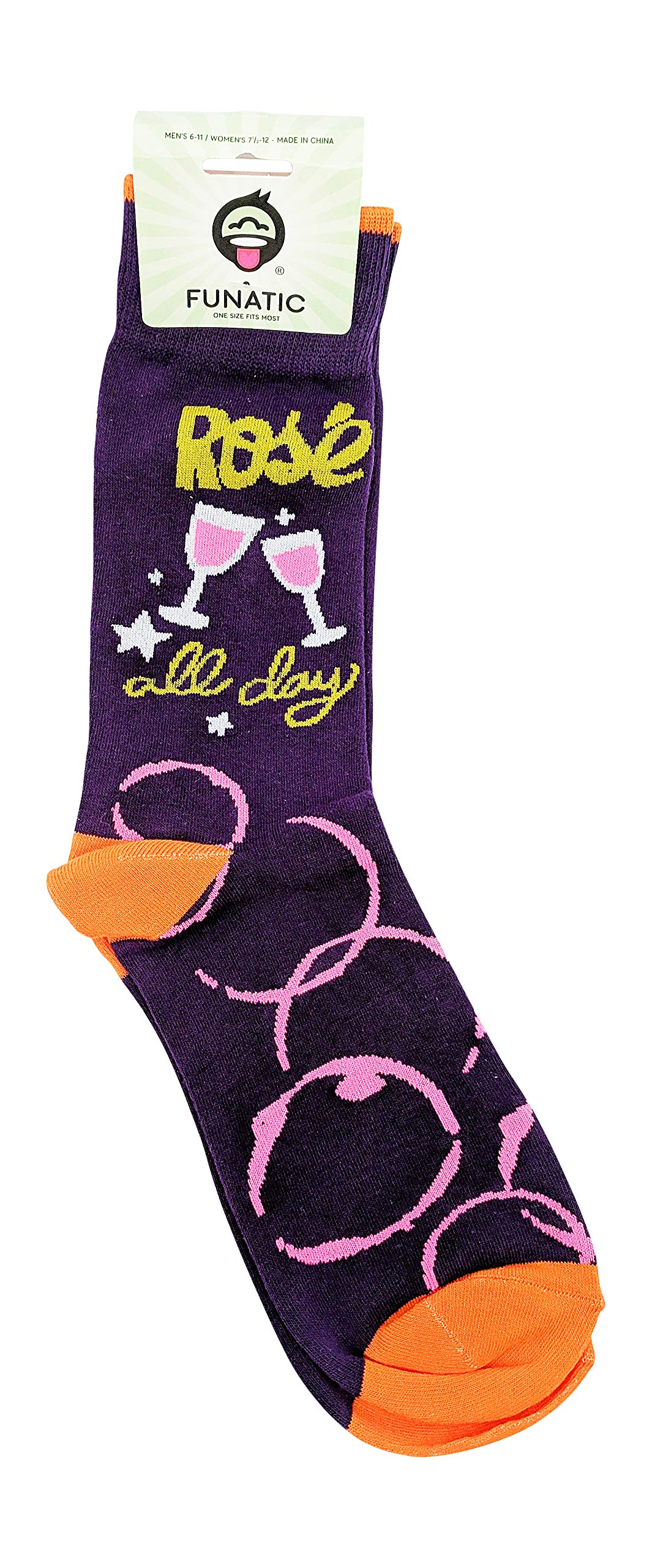 Rosé All Day - Womens Socks - Personalized Gifts - Funny Gifts For Women - Novelty Socks Women - Funky Socks - Fun Socks - Funny Socks Women - Womens Funny Socks - Funny Socks For Women - FUNATIC