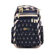 JuJuBe Be Right Back Multi-Functional Structured Backpack/Diaper Bag, Nautical Collection - The Commodore