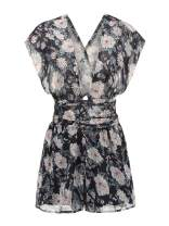 Women's Chiffon Multi-Way Rompers Solid Beach Floral V Neck Playsuit M
