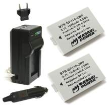 Wasabi Power Battery (2-Pack) and Charger for Canon BP-110 (Fully Decoded) and Legria HF R26, Legria HF R28, Legria HF R206, Vixia HF R20, Vixia HF R21, Vixia HF R200