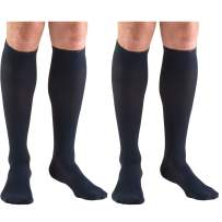 Truform Compression 20-30 mmHg Knee High Dress Style Socks Navy, Large, 2 Count