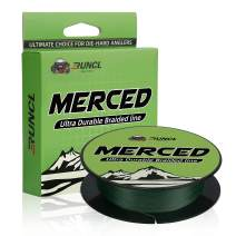 RUNCL Braided Fishing Line Merced, Braided Line 4/8 Strands - Proprietary Weaving Tech, Thin-Coating Tech, Exceptional Strength, Enhanced Smoothness - Fishing Line for Freshwater/Saltwater 6-200LB