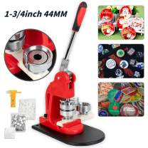 Button Maker 44MM 1.73Inch Button Badge Maker Pins Punch Press Machine DIY with Free 500 PCS Button Parts and Circle Cutter