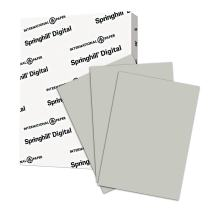 Springhill Gray Colored Paper, 24lb Copy Paper, 89gsm, 11 x 17 printer paper, 1 Ream / 500 Sheets - Pastel Paper with Smooth Finish (024048R)