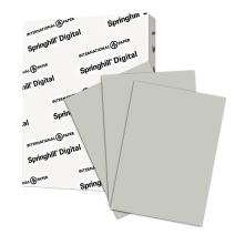 Springhill Gray Colored Cardstock Paper, 67lb Vellum Bristol, 147gsm, 8.5 x 11 card stock, 1 Ream / 250 Sheets - Lightweight Cardstock with Vellum Finish (066000R)